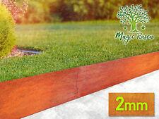 Rasenkante 2mm15-25cm Corten Stahl Edelrost Mähkante Beeteinfassung Umrandung ZP
