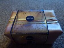 NIVEA - WASH BAG - SHOWER PUFF - GOLD COLOUR - BRAND NEW