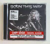 NEW CD Album Neuf ♦ LADY GAGA - RARE FRENCH STICKER - BORN THIS WAY