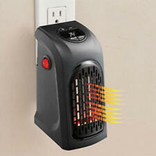 400W Portable Plug-in Electric Wall-outlet Space Heater Warmer Mini Heating Fan