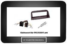 Radioblende  PEUGEOT 406 Einbaurahmen + Antenneadapter DIN ISO + ISO ISO Adapter