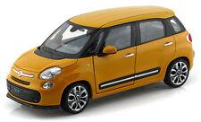 Welly We4038 Fiat 500l 2013 Yellow 1 24 Modellino Die Cast Model
