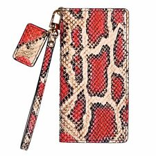 URBANWEST CS Snake Pattern Handmade Leather Cell Phone Case for Apple iPhone X