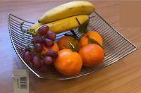 Fruit Vegetable Bowl Basket Rack Storage Stand Holder Dining Chrome Kitchen New