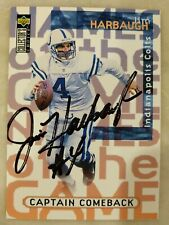 Jim Harbaugh Signed Autographed 1997 UD Upper Deck NFL Card Colts Authentic