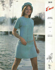 VINTAGE  KNITTING PATTERN JUMPER AND SKIRT, VERY MOD