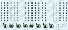 1-10 (B) Jersey Central Lines HO, RDC Decals, Additional Road Names and Heralds