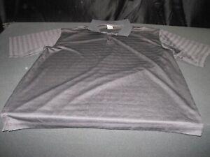 Men's ADIDAS Golf Short Sleeve Striped Polo Shirt Size 3XL Black ~ 8210