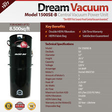 Built-In Vacuum Power Unit Model 1500SE-B From Our Sound-Proof Series