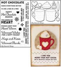 My Favorite Things HUG IN A MUG Clear Stamps & Die-namics LLD HOT COCOA CUPS Die