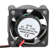 1pc Mini 2510S 5V Micro Cooler Brushless CPU DC Fan 25*10mm Cooling Radiator Fan