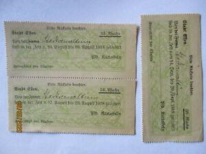 Lebensmittelmarken Ciudad Essen, 3 Marcas 1918 Cada 580 Libra Patatas (60916)