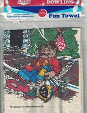"Master Bowling Fun Towel IT'S BEEN A BUM YEAR 11"" x 18"" Vtg 1983 New in Package"