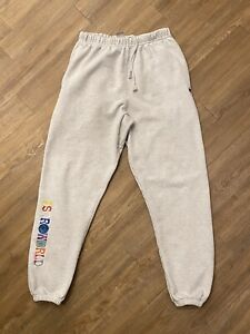 Travis Scott ASTROWORLD Sweatpants Champion Reverse Weave FW18 Medium