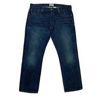 Levi's Original 501 Straight Leg Button Fly Men Jeans Dark Wash Size W38 L30
