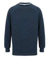 New Mens Front Row FR834 French Terry Sweatshirt. Navy Marl XL.