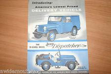 Willys Jeep Dispatcher Sales Folder 1950's