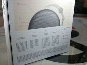 Bang & Olufsen Beoplay A1, charging cable, packaging, instructions, B&O leaflet.
