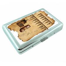 Vintage Pirate Ship D1 Silver Metal Cigarette Case RFID Protection Wallet