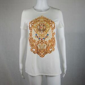 2ME White Short Sleeve Top T Shirts Size Medium