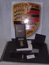 PORSCHE DESIGN LTD EDITION PALLADIUM PD2 LIGHTER W/BLK. LEATHER CASE & 911 MODEL