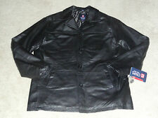 Chaps Ralph Lauren Polo Smooth Leather Button Up Jacket M (New)
