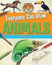 Nuevo todos pueden atraer animales A4 Tapa Dura Para Niños Arte interés 978161533504