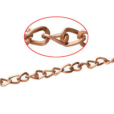 10m Gliederkette Halskette Statement Meterware Farbe Antikkupfer 4x5mm Schmuck