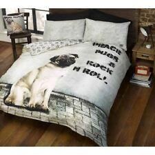 Linge de lit et ensembles gris coton mélangé modernes