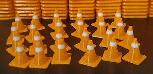 24pc 1/24 scale traffic cones for static display, slot track scenery, R/C cars.
