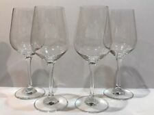 "LOT OF 4 COMTEMPORARY CRYSTAL WINE GLASSES - CLEAR 8.5""H"
