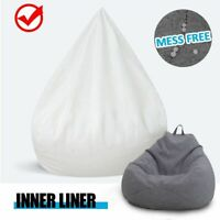 Lazy Beanbag Sofa Single Waterproof Inner Lining Suitable For 100x120cm Cover
