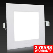 6W LED SQUARE Recessed Ceiling Flat Panel Down Light Ultra Slim Cool White 120MM