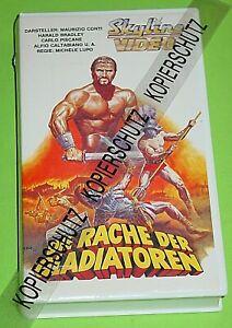 DIE RACHE DER GLADIATOREN / SKYLINE - VHS - VIDEO / KLAUS DILL COVER