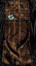 Antique Turkish Kilim Carpet Heybe Bag Horse Wedding Ethnic Black Goat Wool Rug