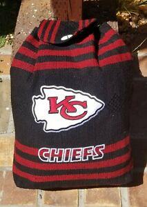 Kansas City CHIEFS Handmade Backpack Black Aztec Tote Bag