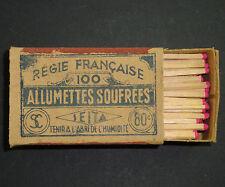 BOITE D'ALLUMETTES SOUFREES SEITA ANCIENNE 80 CENTIMES REGIE FRANCAISE MATCHBOX