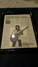 Nick Lowe Pure Pop For Now People Rare Original Promo Ad Framed!