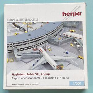 4 different Gangways Flughafenzubehör Airport Accessories VIII, 1:500 OVP Herpa