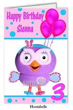 Personalised Birthday Card  with Hootabelle Design -   Any name and Age