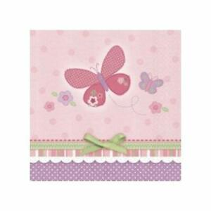 Carter's Baby Girl Little Butterfly Pink Baby Shower Party Beverage Napkins