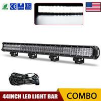 "LED Light Bar 44Inch Flood Spot Combo LED Driving Light SUV Truck 4WD VS 40""42"""