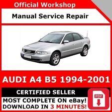 Audi A4 Service Repair Manuals For Sale Ebay