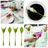 8PCS Bloom Napkin Holders Table Green Twist Flower Buds Serviette Holder Set US