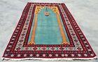 Hand knotted Vintage Pakistan Bokhara Jhaldar Wool Area Rug 5 x 3 Ft (12485 KBN)