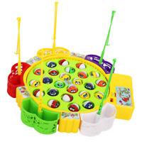 Kinder elektrische rotierende Angelspiel Spielzeug mit 24 Fischen, Geschenk