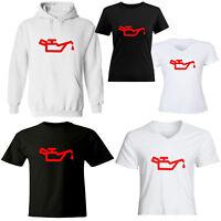 Oil Pressure Warning Light Symbol Mens Womens Juniors Girls Unisex Tee T-Shirt