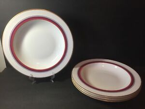 4 Waterford Marc Jacobs Scarlet 11.25 Pasta Bowls New