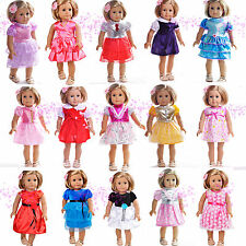 "Lots 10 Pcs New Cute Doll Dress Outfits Clothes for 18"" American Girl  Selection"