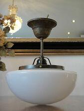 Deckenlampe Jugendstil Hängelampe Messing Antik Pilz Leuchte Glas Art déco Edel